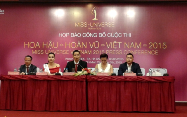 Press conference Miss Universe VN2015