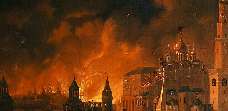 Moscow fire 1812